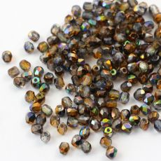 Fire Polish 3mm Crystal Magic Copper [40szt]