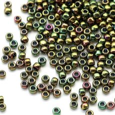 Toho Round 8/0 Higher-Metallic Iris Olivine [10g]