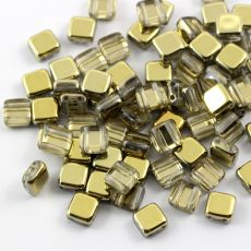 Square 6x6mm Crystal Amber [10szt]
