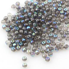 Round Beads Crystal Glittery Graphite 3mm [50szt]