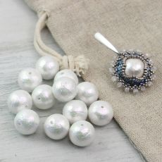 Miyuki Cotton Pearls Rich White kula 8mm