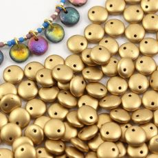 Lentil Beads Aztec Gold 8mm [20szt]