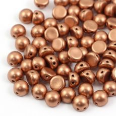 CzechMates Cabochon 7mm Matte Metallic Copper [10szt]