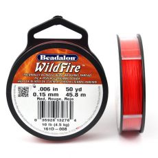 Beadalon Wildfire nić żyłkowa Red 0,15mm / 46m