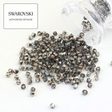 5328 Swarovski Xilion Bead 4mm Silver Night [6szt]