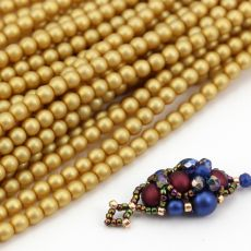Round Beads Velvet Brass 4mm [sznur/120szt]