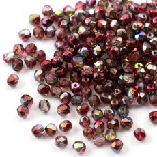 Fire Polish 4mm Crystal Magic Wine [20szt]