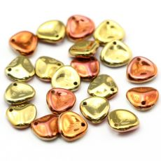 Rose Petals 8x7mm Jet California Gold Rush [10szt]