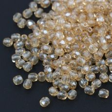 Fire Polish 4mm Crystal Champagne Luster [20szt]