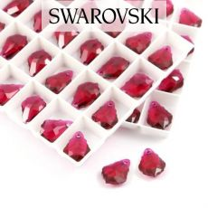 6090 Swarovski Baroque Pendant 16x11mm Ruby