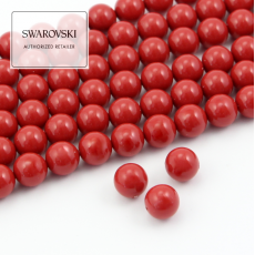 5810 Swarovski Crystal Pearl Red Coral 6mm [6szt]