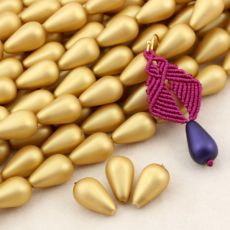 Drop Beads Velvet Brass 18x11mm [4szt]