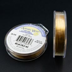 Drut miedziany ARTISTIC WIRE GOLD 0,32mm/36,5m