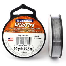 Beadalon Wildfire nić żyłkowa Grey 0,15mm / 46m