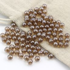 Round Beads Smoke Topaz Shimmer 6mm [10szt]
