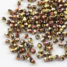 Fire Polish 3mm Crystal California Pink [40szt]
