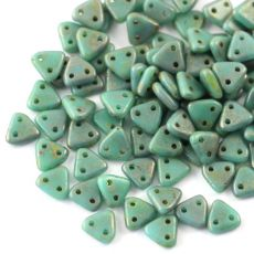 Triangle 6mm Copper Picasso Turquoise [40szt]