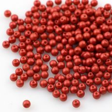 Round Beads Lava Red 3mm [50szt]