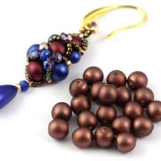 Round Beads Velvet Dark Bronze 6mm [20szt]