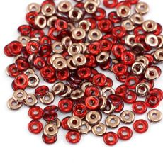 O bead donut 4x1mm Red Capri Gold [2,5g]