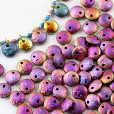 Lentil Beads Jet Etched Sliperit Full 8mm [20szt]