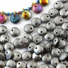 Lentil Beads Crystal Etched Chrome Full 8mm [20szt]