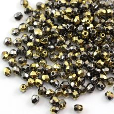 Fire Polish 4mm Crystal California Graphite [20szt]