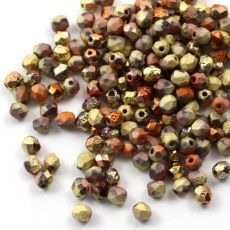 Fire Polish 4mm Crystal Etched California Gold Rush [20szt]