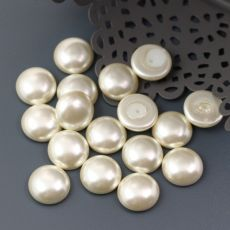 Glass Pearl Cabochon Light Cream 10mm