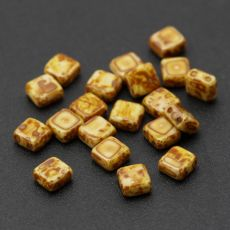 Square 6x6mm Alabaster Dark Travertin [10szt]