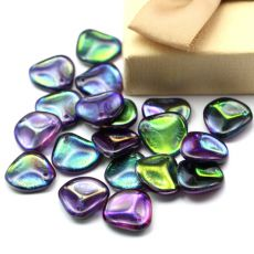 Rose Petals 14x13mm Crystal Magic Purple