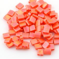 Miyuki Tila Beads 5x5x1,9mm Opaque Orange Matted AB [30szt]