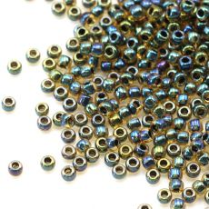 Toho Round 8/0 Inside-Color Rainbow Lt Topaz/Jet [10g]