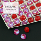 1122 Swarovski Rivoli 12mm Royal Red DeLite [2szt]