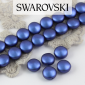 5860 Crystal Iridescent Dark Blue Coin Pearl 10mm [2szt]