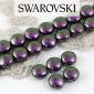 5860 Swarovski Crystal Iridescent Purple Coin Pearl 10mm [2szt]