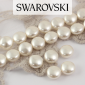 5860 Swarovski Crystal White Coin Pearl 10mm [2szt]