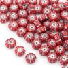 Flower Beads Primula Opaque Red 8x5mm [10szt]