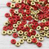 O bead donut 4x1mm Opaque Red Amber [2,5g]