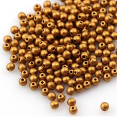 Round Beads Brass Gold 3mm [50szt]