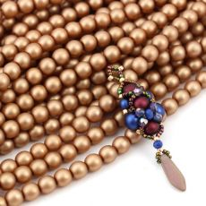Round Beads Velvet Copper 6mm [sznur/80szt]