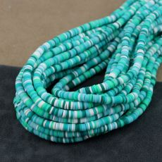 Heishi beads mix green 4mm [sznur 40cm]