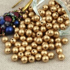 Round Beads Aztec Gold 4mm [50szt]
