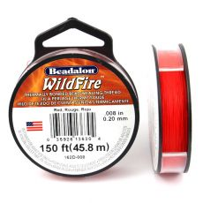 Beadalon Wildfire nić żyłkowa Red 0,20mm / 46m