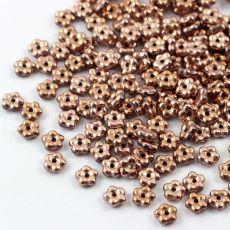 Mini Flower Beads Crystal Capri Gold Full 5mm [50szt]