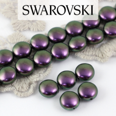 5860 Crystal Iridescent Purple Coin Pearl 10mm [2szt]