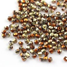 Fire Polish 3mm Crystal California Gold Rush [40szt]