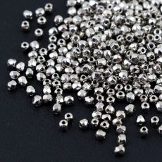 Fire Polish 2mm Crystal Nickel Plated [80szt]