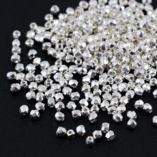 Fire Polish 2mm Crystal Silver Plated [80szt]