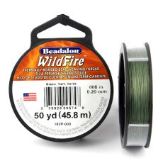 Beadalon Wildfire nić żyłkowa Green 0,20mm / 46m